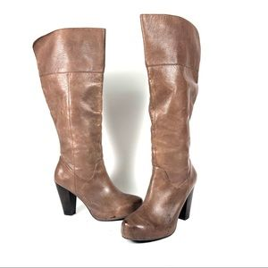 Steve Madden Grigio leather round toe boots